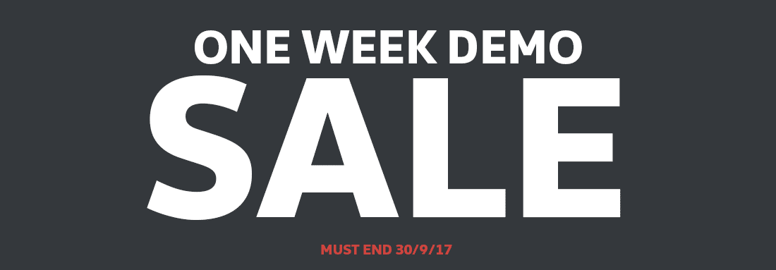 One Week Demo Sale