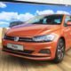2018 Volkswagen Polo in orange at the launch