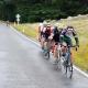 ŠKODA Bikers racing in the down road