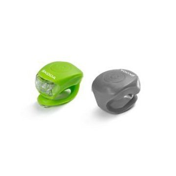 ŠKODA Bike Light Set in Green and Grey
