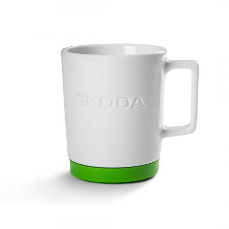 ŠKODA Coffee Mug in White and Green
